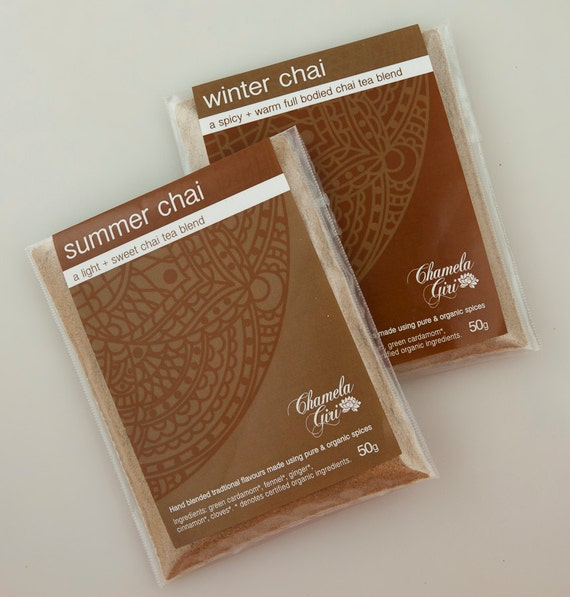 Organic Summer and Winter Chai Masala 50 gram bag of each