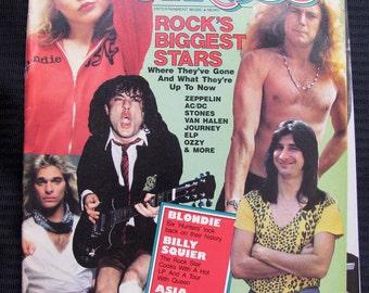 Vintage Circus Magazine July 31, 1982 Rock On Tour Edition