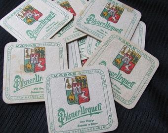 Lot of 10 Paper Beer Coasters - Pilsner