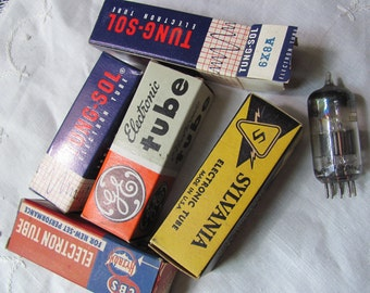 Old Television Radio Tube in Original Box - Choice of 6x8 6CM8 5840 6AH6