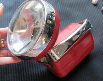 Vintage Red Portable Utility Battery Operated Lamp Lantern