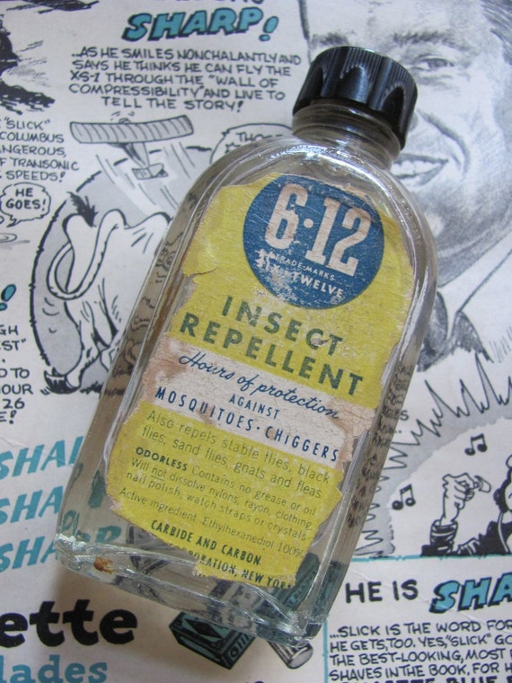 Antique Full Bottle Of Insect Repellent 6 12 Brand By