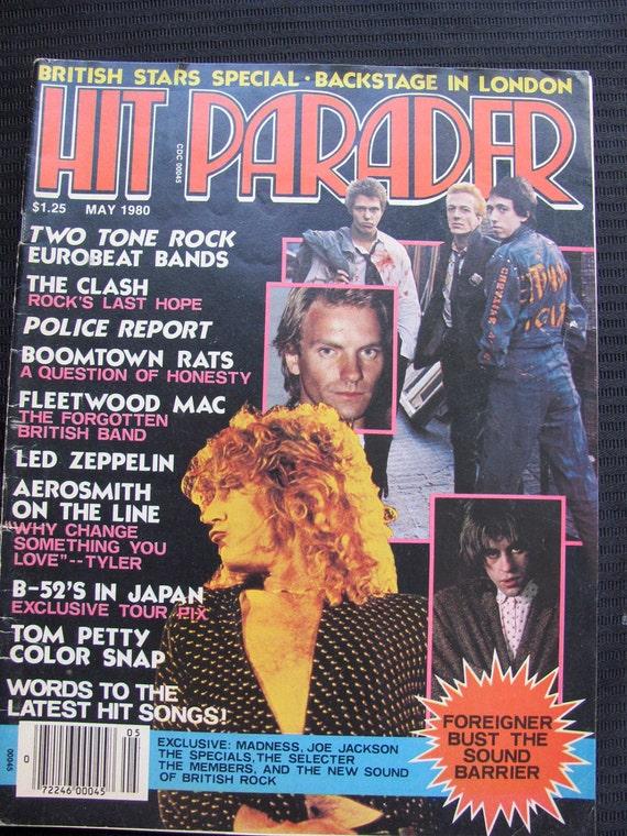 Vintage Hit Parader Magazine May 1980 British Stars