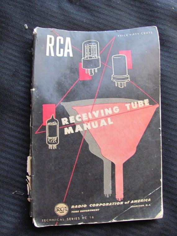 Vintage RCA Radio Receiving Tube Manual Circa 1960