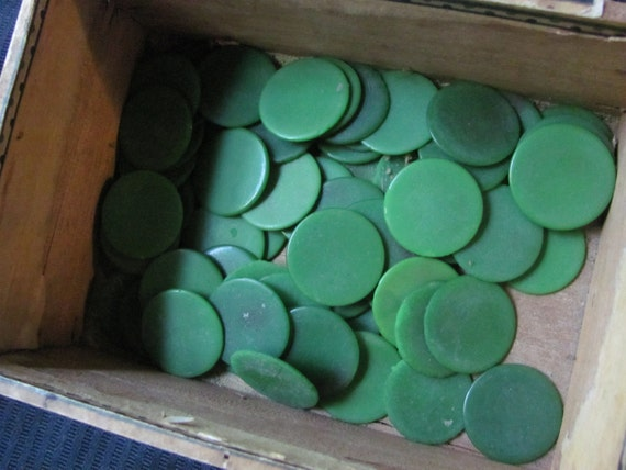 Vintage Antique Bakelite Celluloid Catalin Game Chips Lot of 66