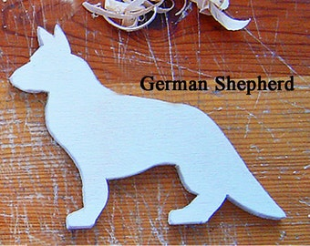 German Shepherd - Dog Decor -Schnauzer - Collie - Great Dane - Doberman - Hand Carved - Ready to Finish Your Way