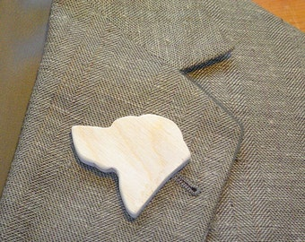 Boutonniers DIY Wedding - Wedding GROOMS or Groomsmen BOUTONNIERES - Top Dog - Hand Carved Wood - Finish them Yourself