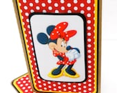 Mini Moleskine Journal with Matching Bookmark- Minnie Mouse 3D