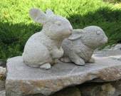 Rabbit Statues, Garden Rabbits, Garden Bunnies, Concrete Rabbits, Rabbit Garden Decor, Cement Rabbits, Rabbits For Garden Art, Bunny Rabbits