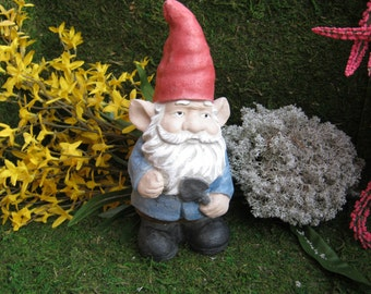 Garden gnome gnorman with trowel for Combat gnomes for sale
