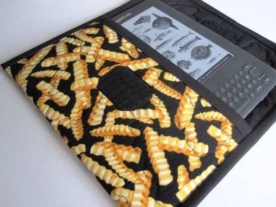 Kindle Fire, Keyboard, Keyboard 3G case, ebook cover, french fries