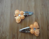 Sweet Butterfly Snap Clip (orange)