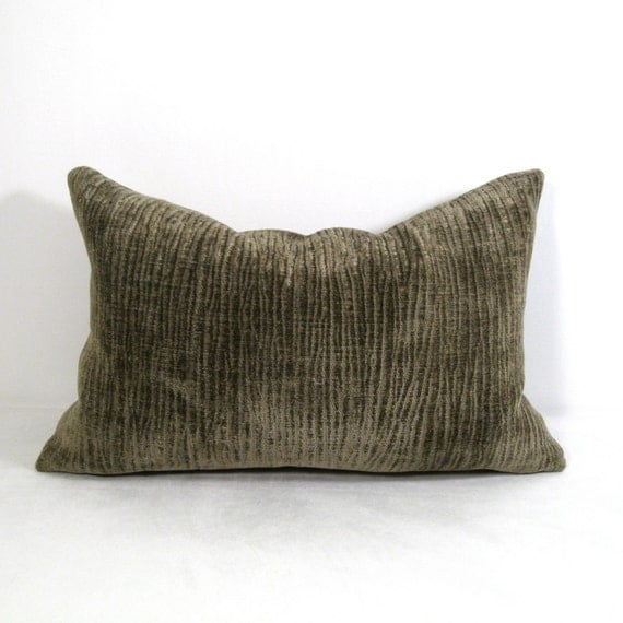 SALE Green Pillow Cover Decorative Cushion Olive Moss