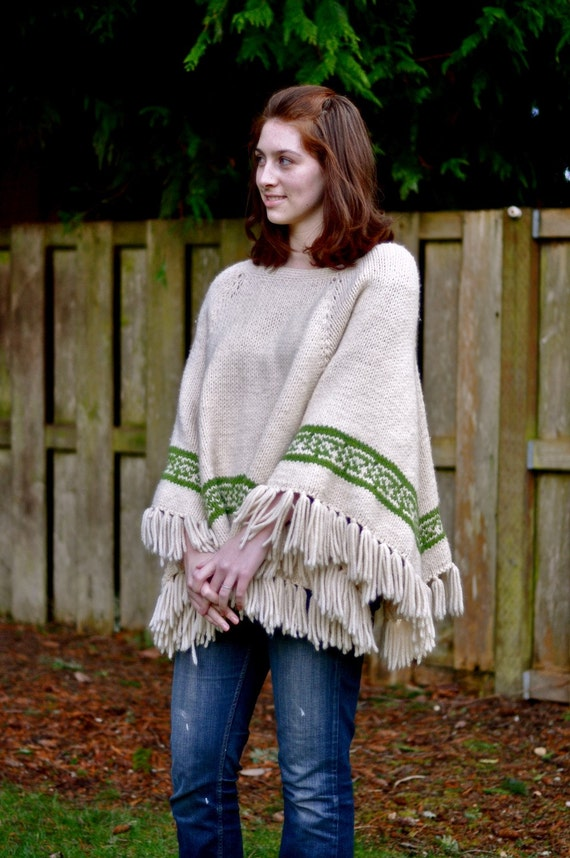70's Knit Poncho (One size fits all)