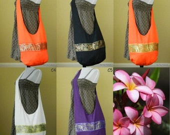 Thai Cotton Sling Bag Purse Crossbody Hobo Hippie Elephant Gypsy Handbags M