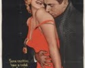 "Huge Original Movie Poster ""The Prince and the Showgirl"" starring Marilyn Monroe and Laurence Olivier"