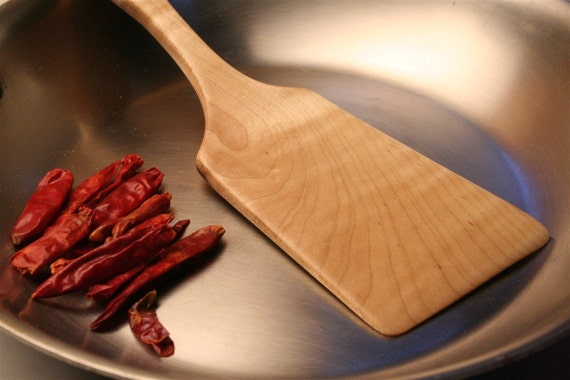 wooden spatula for for all kinds of flipping and serving jobs around the kitchen