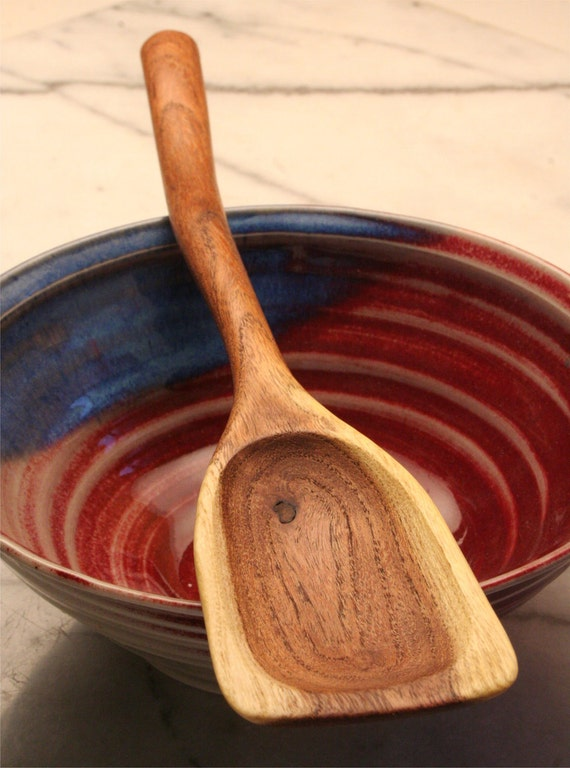 Wooden stirring spoon, small, made of salvaged Mesquite wood