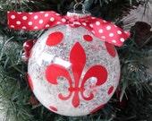 Personalized Christmas Ornaments - fleur de lis or other design