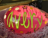 Personalized Jumbo Plastic Easter Eggs - multiple colors available