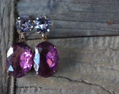 circa 1950s FRENCH LILAC earrings