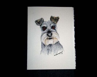 Schnauzer Set of 8 Note cards
