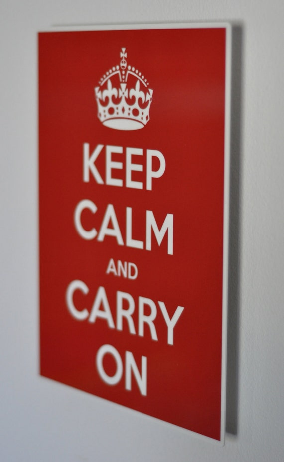 keep calm and carry on poster - high quality aluminum print
