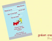 Seuss Dots Baby Shower Invitation