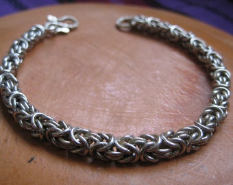 Silver Chain Bracelet--Entirely hand-crafted