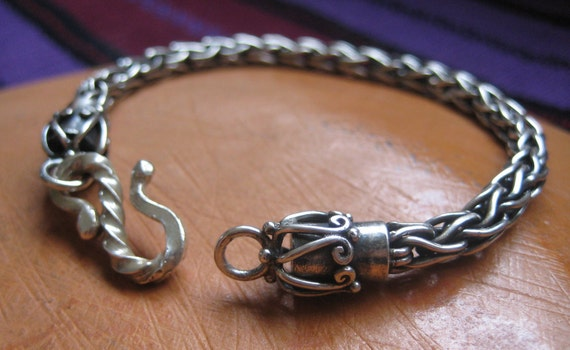 Reserved for James--Silver Chain Bracelet--Entirely hand-crafted