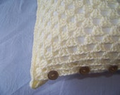 Reserved - Antique White Granny Pillow
