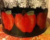Tin Apple Bowl Primitive