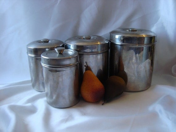 silver canister set canisters kitchen storage by