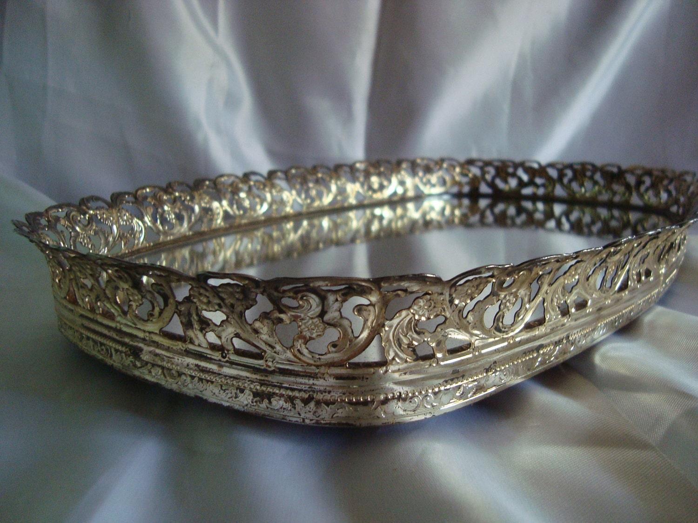 Vintage Vanity Tray Mirrored Vanity Tray