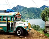 SPRING SALE Chicken Bus in Guatemala, 8x10 Metallic Photograph