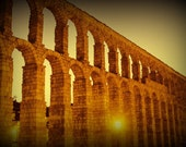 Spanish Aquaduct by Night, 8x10 Fine Art Photograph