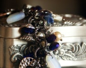 CUSTOM Atlantis Treasures Chunky Natural Gemstone and Charms Bracelet Silver Sterling RESERVED