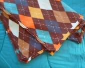 Argyle Simple Fleece Blanket