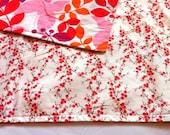Vibrant Pink & Orange Baby Blanket