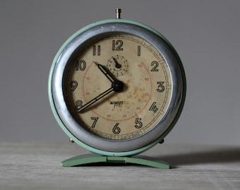 French Vintage Japy Alarm Clock Loft Deco Mid Century