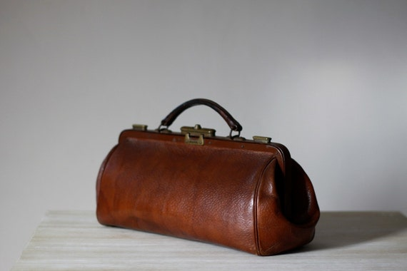 Vintage French Handbag Real Leather