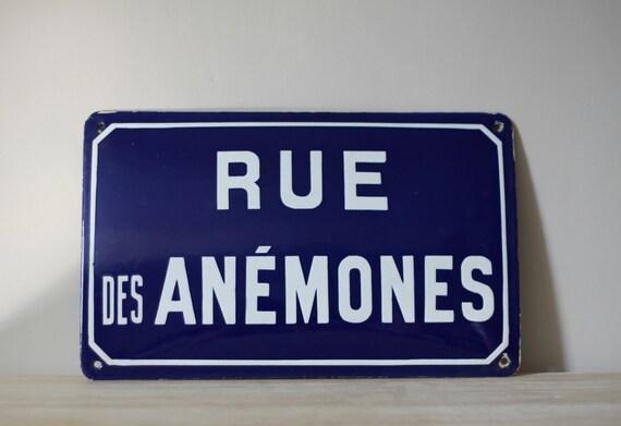 French Enamel Street Sign Loft Living