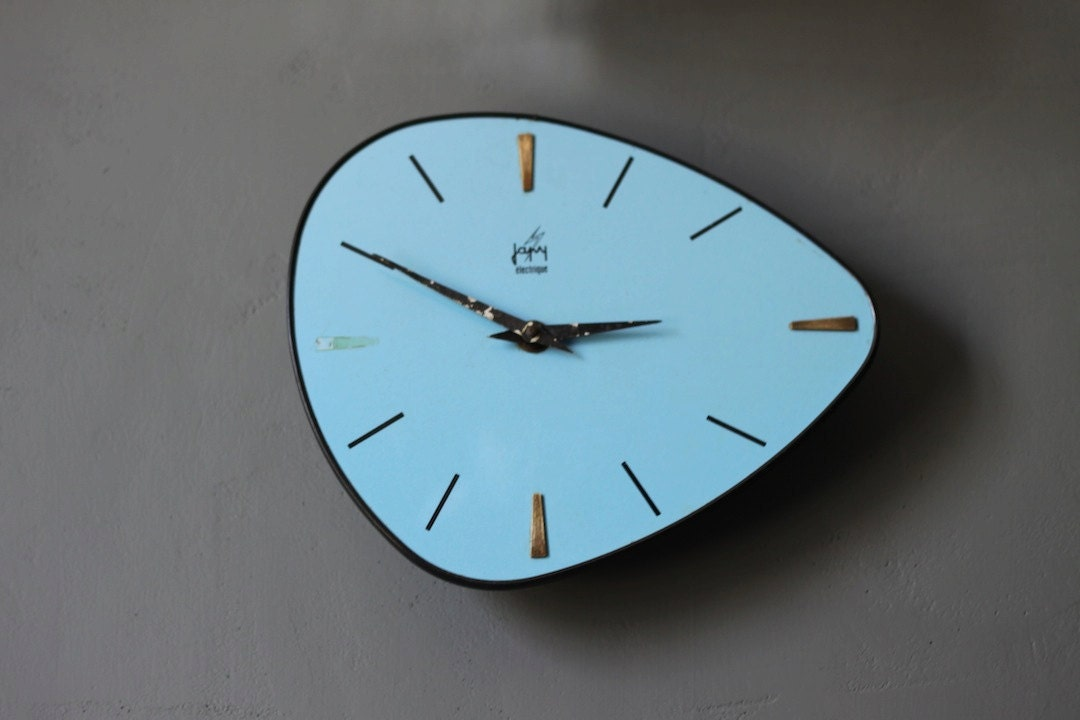 Vintage Mid Century Retro 60 S French Japy Blue Wall