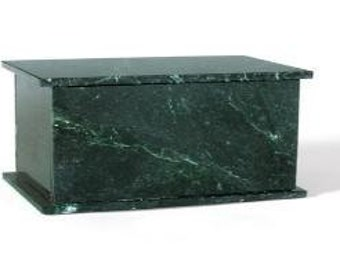 Marble Cremation Urn Green