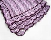 Knitted Baby Blanket - Violet