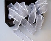 "1"" White Organza Ribbon - 2 Yards"