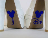Disney I Do Shoe Blue Glitter Sticker Wedding Photo Op Bridal DIY Sparkly Shoe Decal I Do Sticker