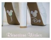 Disney I Do Shoe Silver Glitter Sticker Wedding Photo Op Bridal DIY Sparkly Shoe Decal I Do Sticker