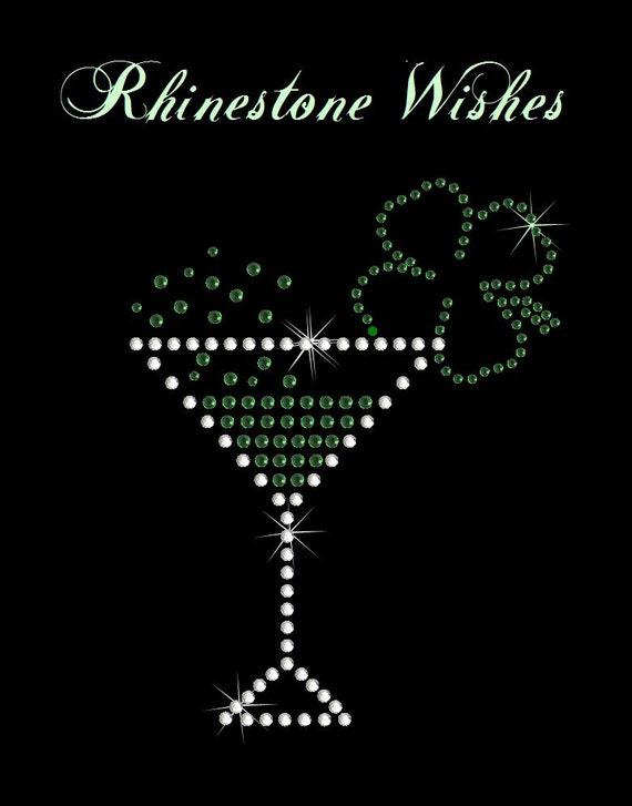St. Patty's Day Drink Rhinestone Transfer