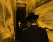 Chasidim in a Tunnel 8x10 Print